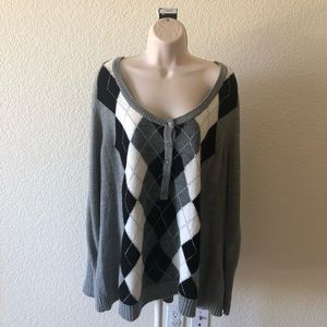 Lane Bryant grey checkered sweater size 22…